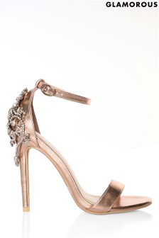 Glamorous Barely There Embellished Heels