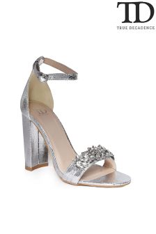True Decadence Jewelled Strap Sandals