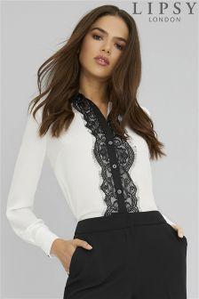 Lipsy Mono Lace Shirt
