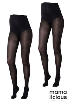 Mamalicious Maternity 2 Pack Sabine Tights