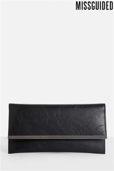 Missguided Flat Metal Trim Clutch