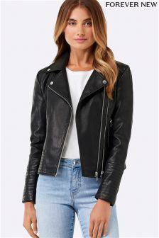 Forever New Alicia PU Biker Jacket