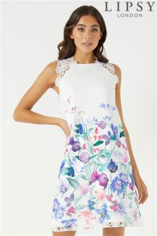 Lipsy Floral Imogen Printed Shift Dress