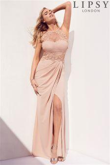 Lipsy Loves Kate Petite 3D Floral Maxi Dress