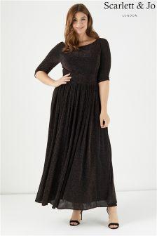 Scarlett & Jo Adele Lurex Maxi Dress