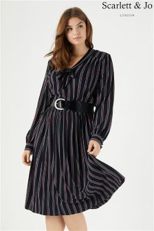 Scarlett & Jo Stripe Midi Dress