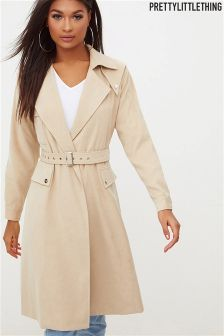 PrettyLittleThing Belted Trench Coat