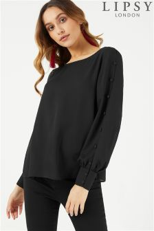 Lipsy Rouleau Button Detail Blouse