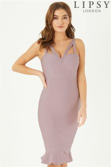 Lipsy V neck Bandage Dress