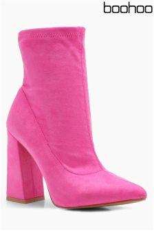 Boohoo Block Heel Ankle Boots
