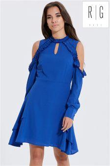 Rage Cold Shoulder Frill Dress