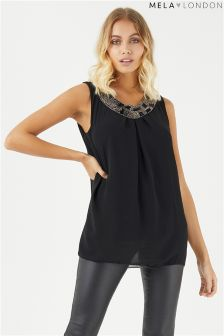 Mela London Beaded Front Top