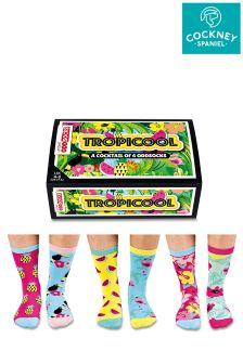 Sock Academy Cocktail Oddsocks - Pack Of 6
