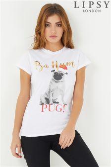 Lipsy Christmas Pug Tee