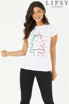 Lipsy Love Paperchase Christmas Tee