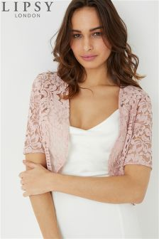 Lipsy Short Sleeve Lace Shrug