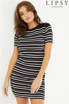 Lipsy Stripe Short Sleeve Dress