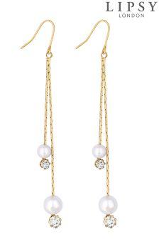 Lipsy Pearl And Crystal Multi Drop Earrings