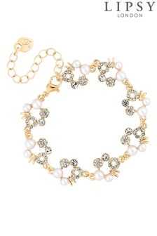 Lipsy Pearl And Crystal Hoop Bracelet