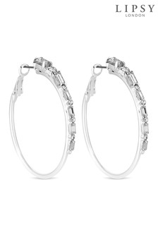 Lipsy Crystal Hoop Earrings