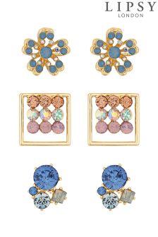 Lipsy Crystal Multi Shape Earring Set