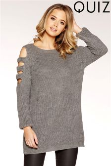 Quiz Knitted Cold Shoulder Jumper