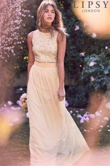Lipsy Savannah Sequin Top Maxi Dress