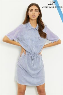 JDY Striped Short Sleeve Shirt Dress