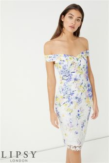 Lipsy Loves Kate Print Midi Dress