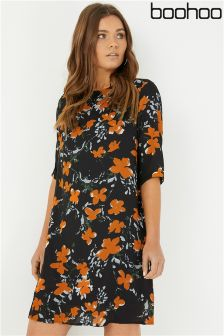 Boohoo Printed Shift Dress