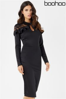 Boohoo Midi Lace Dress