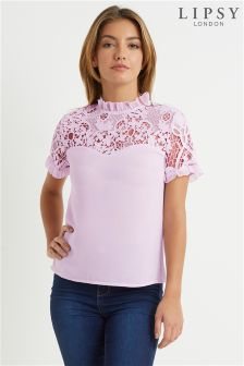 Lipsy Lace Sweetheart Shell Top