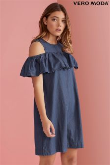 Vero Moda Ruffle Cold Shoulder Dress