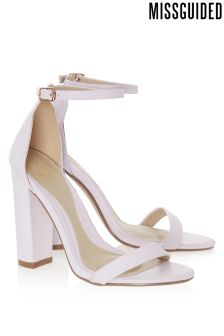 Missguided Block Heel Barely There Heels