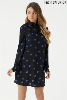 Fashion Union Shift Printed Dress