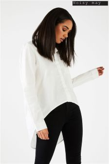Noisy May Long Sleeves High Low Shirt