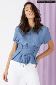 Noisy May Phillipa Short Sleeve Corset Top