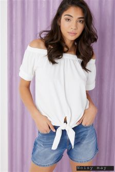 Noisy May Off Shoulder Tie Top