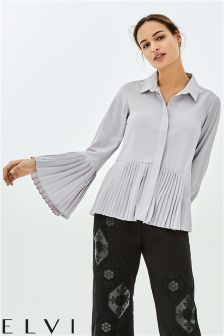 Elvi Shirt With Pleated Hem And Cuffs