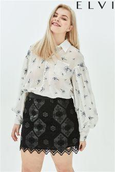 Elvi Lace A line Mini Skirt