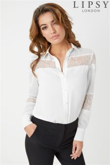 Lipsy Placed Lace Shirt