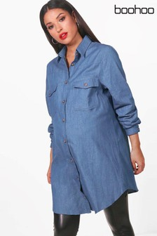 Boohoo Maternity Hollie Harmoney Denim Shirt