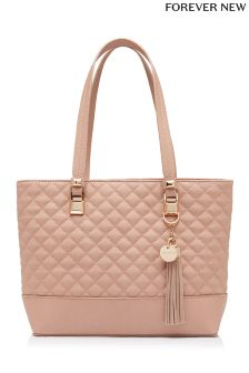Forever New Quilted Midi Tote Bag