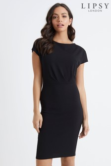 Lipsy Pleated Bodycon Dress