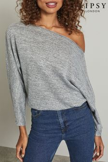 Lipsy Slash Neck Blouse