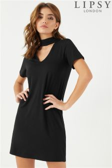 Lipsy Choker Shift Dress