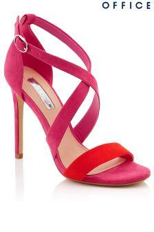 Office Cross Strap High Heel Sandals