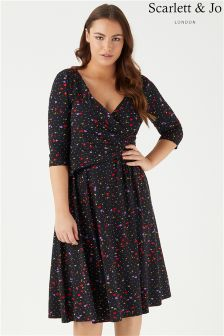 Scarlett & Jo Floral Wrap Jersey Dress