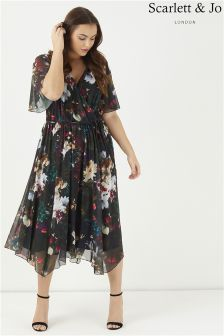 Scarlett & Jo Juliette Hanky Hem Skater Dress