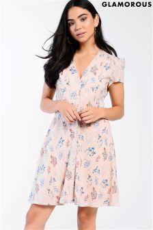 Glamorous Floral Tea Dress